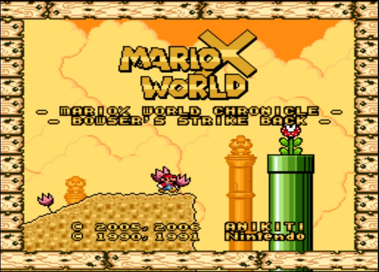 Super Mario World (USA) [Hack by Anikiti v1 2] (~MarioX World
